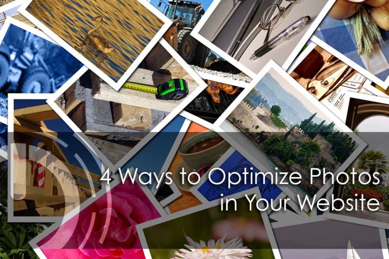 optimize photos for website