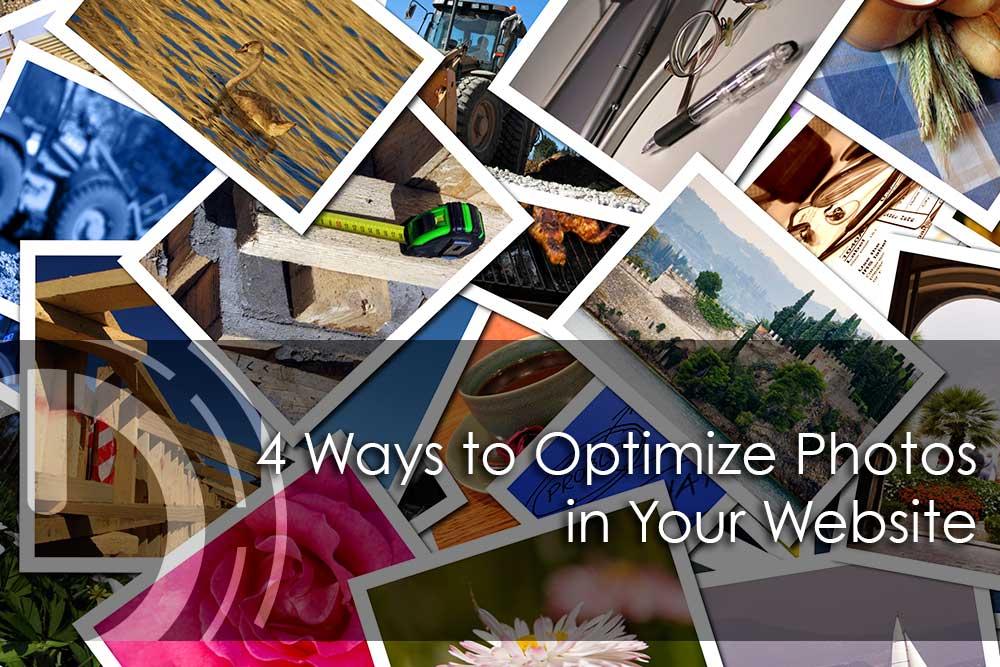 optimize photos for website