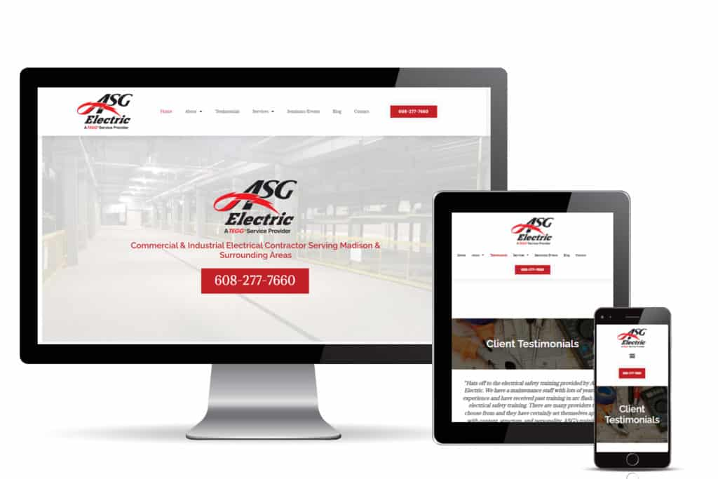 ASG Electric Website Redesign