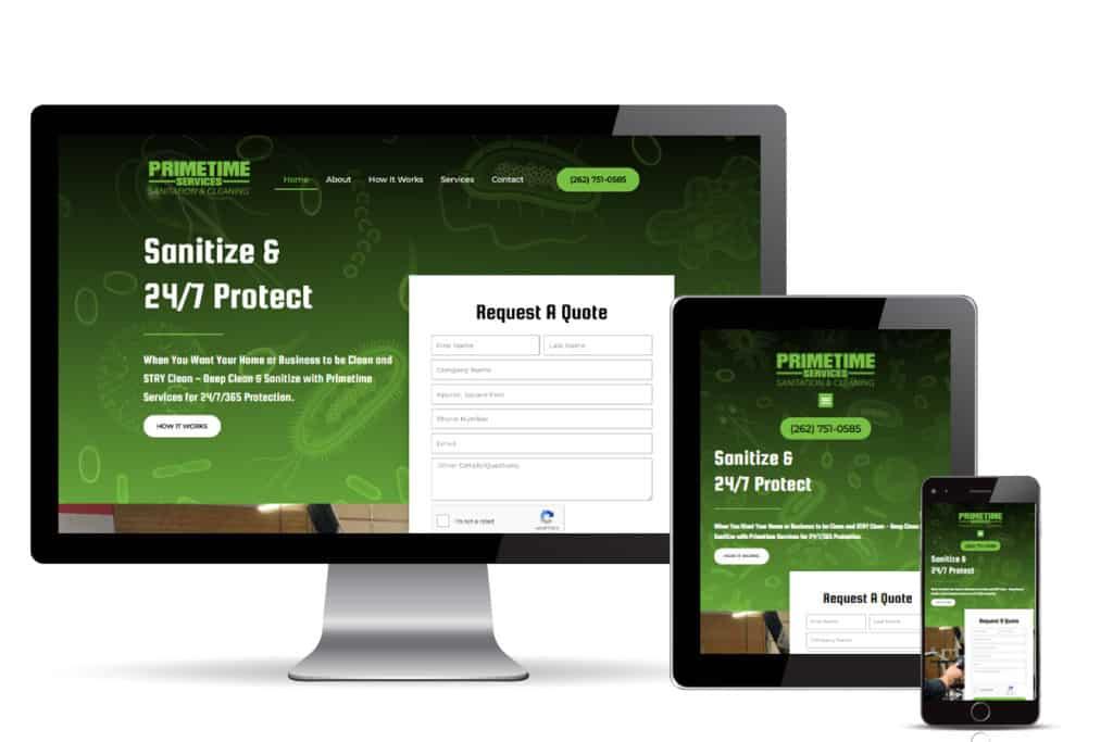 primetime sanitation website design